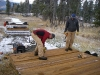 Joel Chaudoir and Damon begin decking.jpg