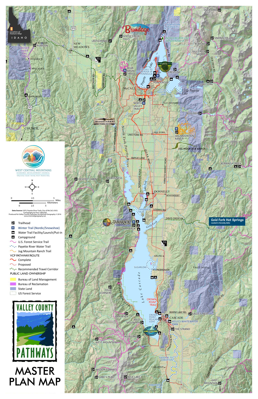 Valley County Pathways - Boulder bike path map